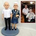 الجد تمثال bobblehead مخصص سعيد عيد ميلاد الديكور هدية دمية مخصص الزوج هدية الزفاف vake توبر الديكور