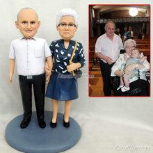 grandparent figurine bobblehead custom happy birthday decoration gift doll husband wedding vake topper