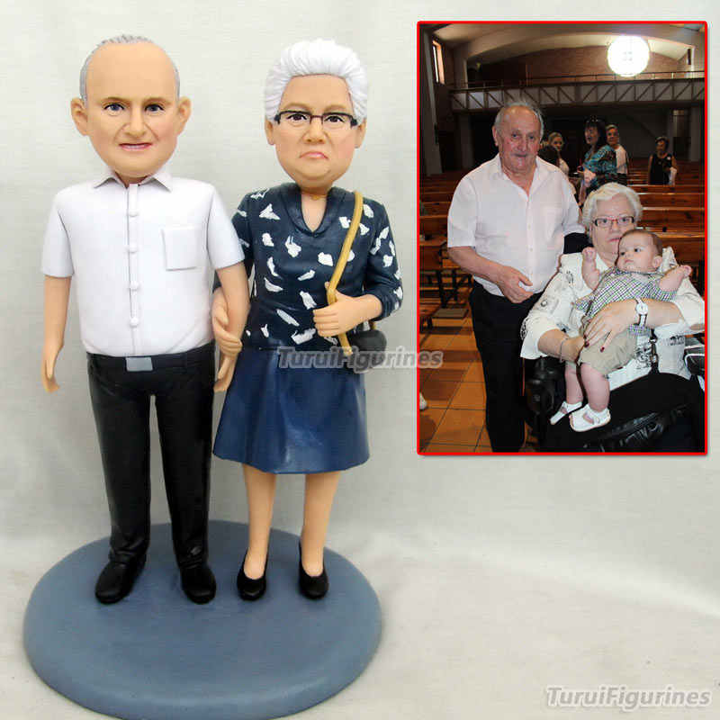 grandparent figurine bobblehead custom happy birthday decoration gift doll  custom husband gift wedding vake topper decoration|Statues & Sculptures| -  AliExpress