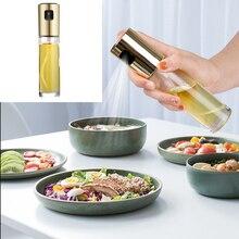 1Pc Kitchen Tools Oil Spray Glass Olive Sprayer Empty Bottle Vinegar Dispenser Cooking Salad BBQ Baking