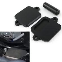 Motorcycle Smog Block Off Plate Cover CNC Billet Aluminum For Kawasaki ZX6R ZX-6R ZX6RR 636 ZX-10R ZX-14R Concours 14 Z800 Z1000