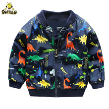 Children Baby boy jacket Cute Dinosaur kids coats Spring Autumn windbreaker girl jackets girls outerwear coats 2 3 4 7 years old стоимость