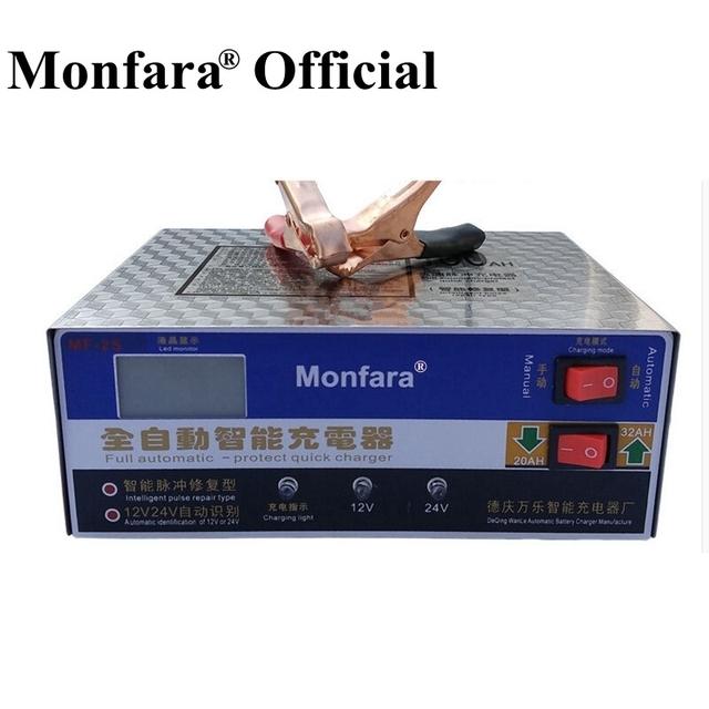 Totalmente Automático 12 V/24 V 100AH Batería de Coche Eléctrico Cargador Inteligente Cargador Rápido de Reparación de Pulso Tipo de Pantalla LED
