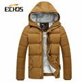 Parkas Homens Casaco de Inverno 2015 Nova Moda Com Capuz Zipper Grosso Slim Fit Casaco Chaqueta Hombre Masculino Homens Parkas 6 Cores