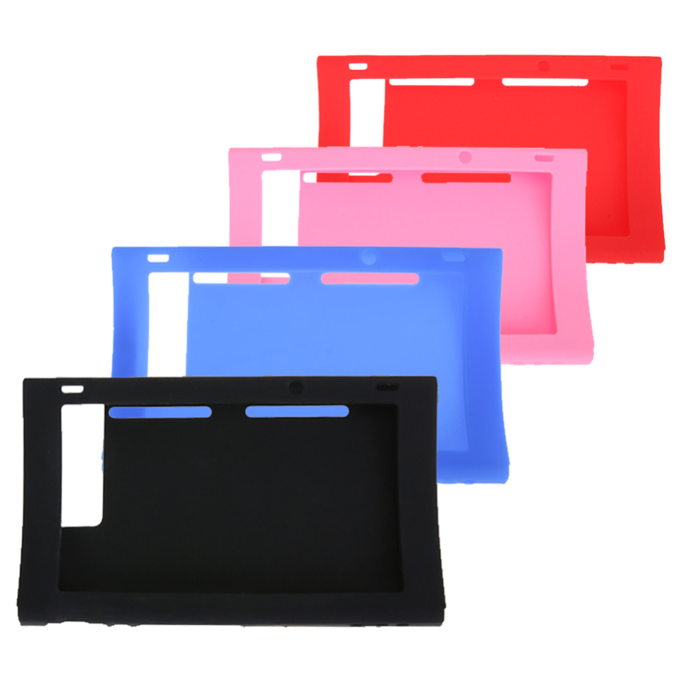 Non-slip Surface Skin Silicone Rubber Case Cover For Nintendo Switch Host 170x105x25mm Black/Blue/Red/Pink
