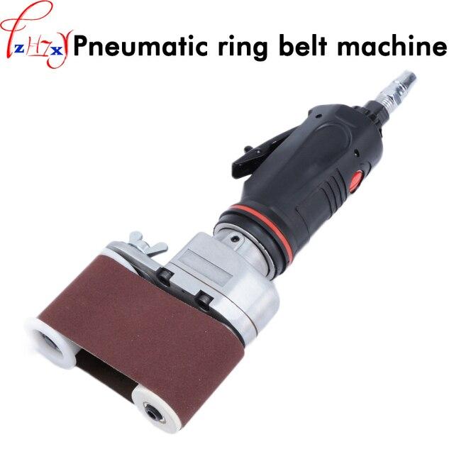 Pneumatic circular sand belt machine rust - removing sand polishing machine pneumatic belt sander 1pc