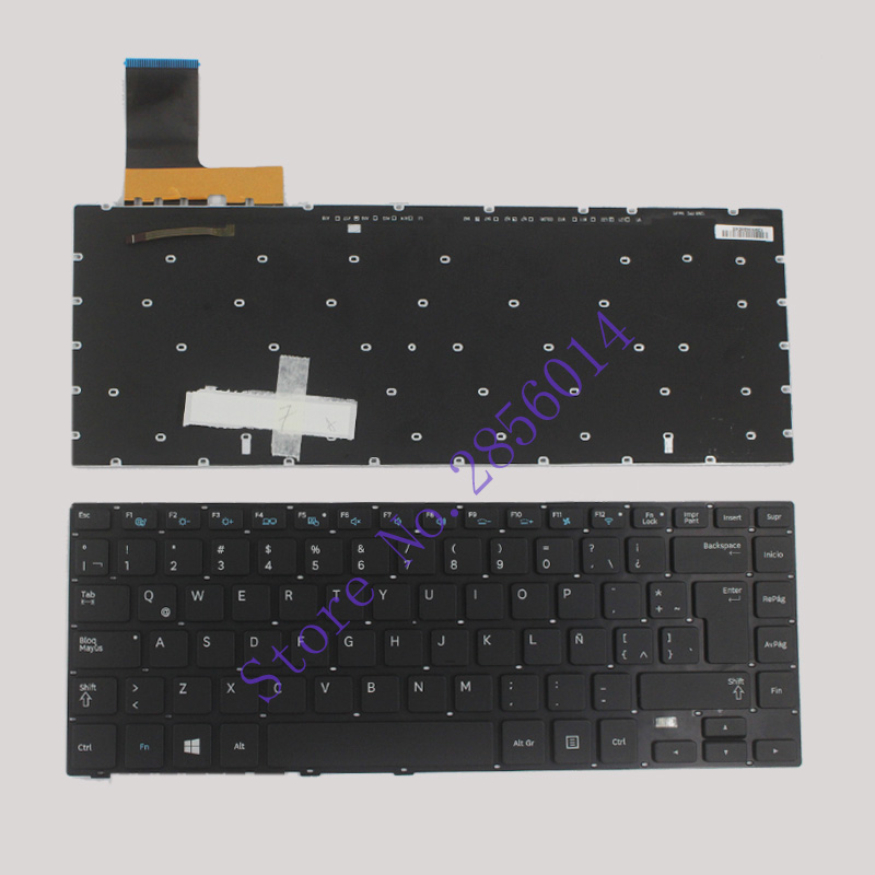 New FOR <font><b>Samsung</b></font> <font><b>NP530U4E</b></font> NP540U4E <font><b>Keyboard</b></font> LA/Latin Teclado Backlit image