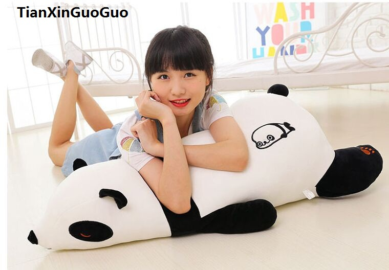 large 100cm cartoon prone panda plush toy very soft doll sleeping pillow Valentine's Day gift w2557 large 90cm cartoon pink prone pig plush toy very soft doll throw pillow birthday gift b2097