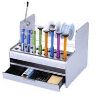Caja de herramientas de reparación de teléfono móvil multifuncional caja de almacenamiento de plástico pinzas de destornillador caja de herramientas de mantenimiento electrónico Ferramenta