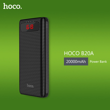 HOCO 20000mAh Twin USB Energy Financial institution 18650 Transportable Exterior Battery Common Cell Telephone Charger PowerBank 10000mAh For Telephones
