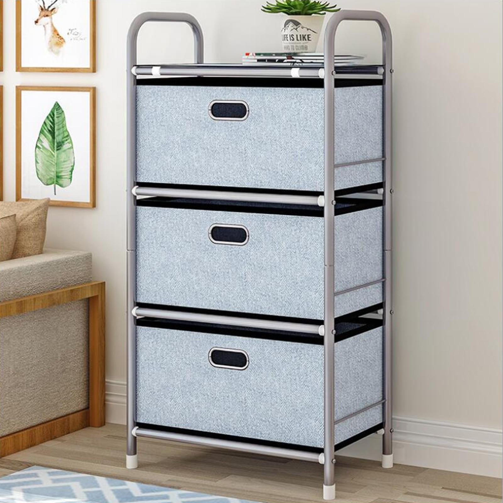 Tour de rangement verticale de meubles 3 tiroirs armoire de rangement vêtements articles divers jouets organisateur Rack Anti-rouille robuste cadre en acier