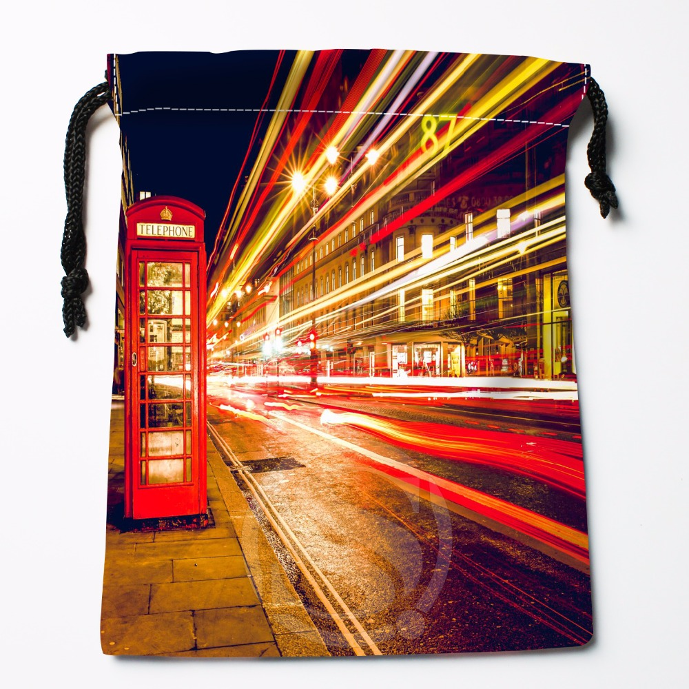 Fl-Q98 New London England Telephone #2 Custom Printed  Receive Bag  Bag Compression Type Drawstring Bags Size 18X22cm 711-#Fl98