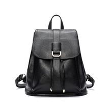 Doodoo рюкзак натуральной мягкой натуральной кожи рюкзаки подлинной первый Слои корова коровья кожа женщины рюкзак школьный портфель D6037