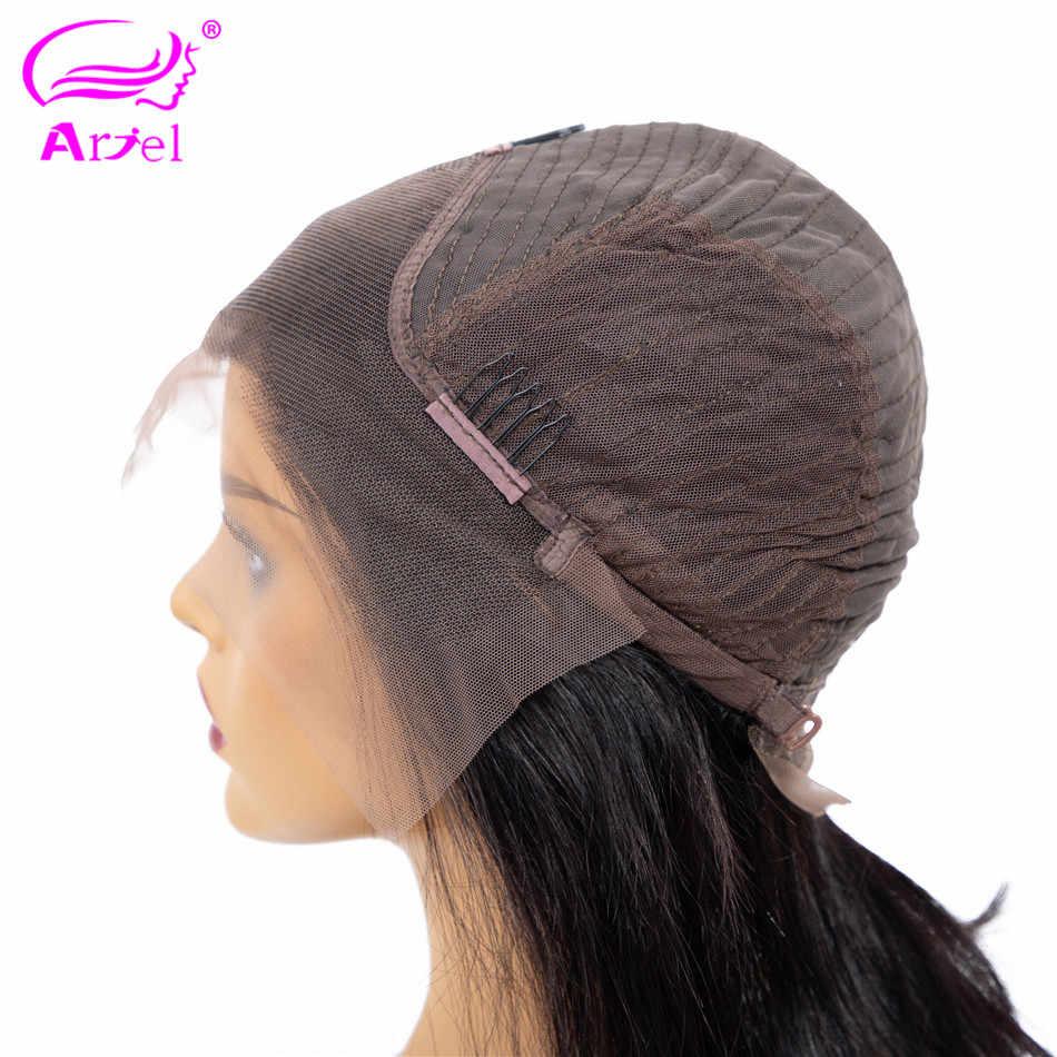 Ариэль Короткий кружевной передний парик из человеческих волос перуанские прямые волосы боб парик с предварительно выщипанные волосы кружева спереди al парики для черных женщин