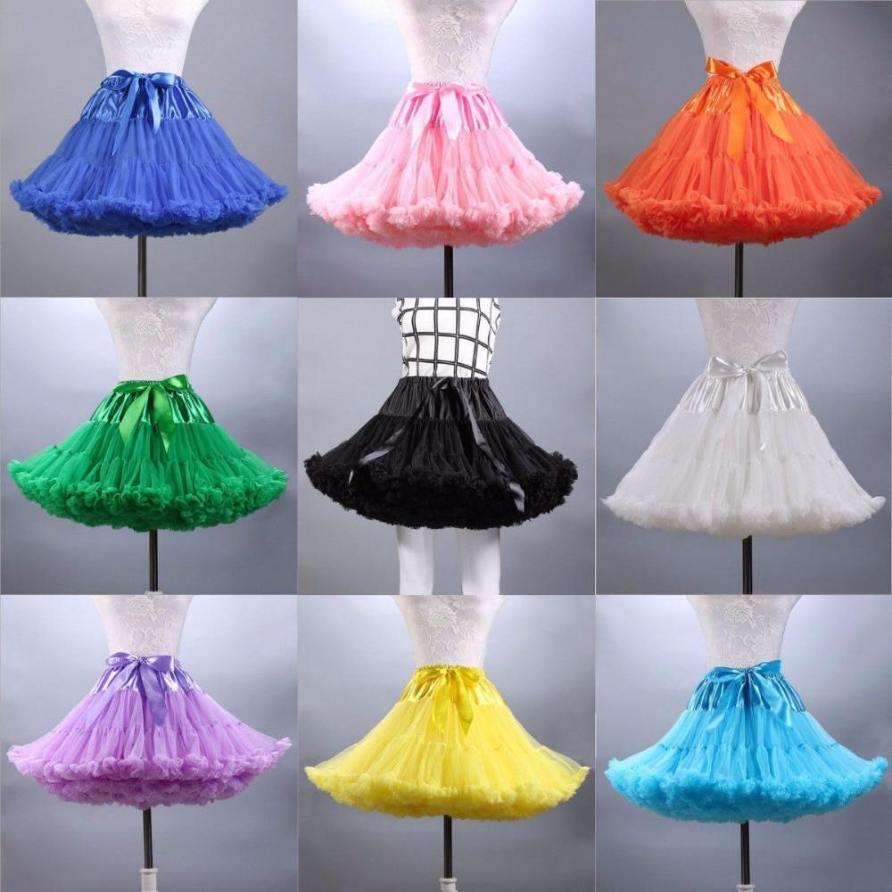 Ladies Princess Ballet Tutu Skirt Party Dance Adult Fluffy Pettiskirt Petticoa Princess Tulle  Party Dance Fashion Mesh Skirts