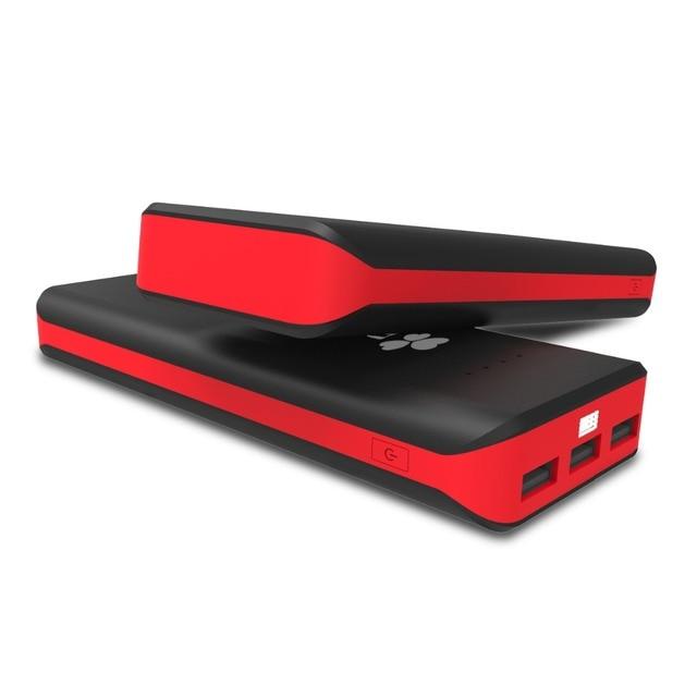 ЕС Технологии смартфон Power Bank 20000 мАч Портативный Внешнего Зарядного устройства 3 USB Powerbank телефон банк силы bateria
