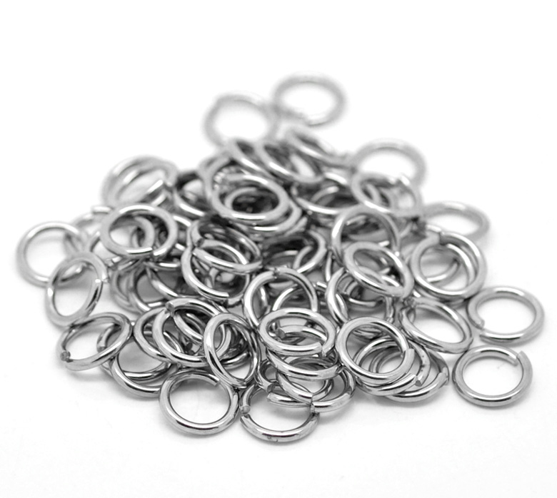 500PCS 3MM-9MM DIY Making Jewelry Findings Stainless Steel Opening Jump Rings