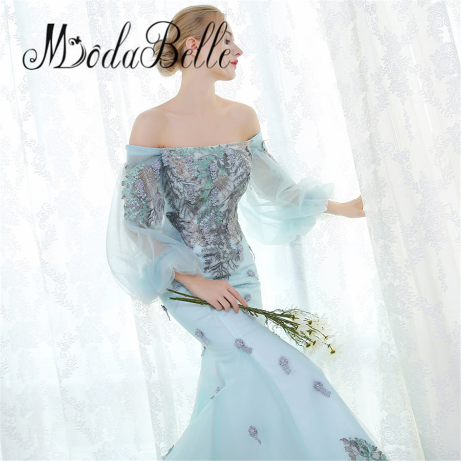 modabelle Dubai Embroidery Flowers Evening Dresses Party Long ...