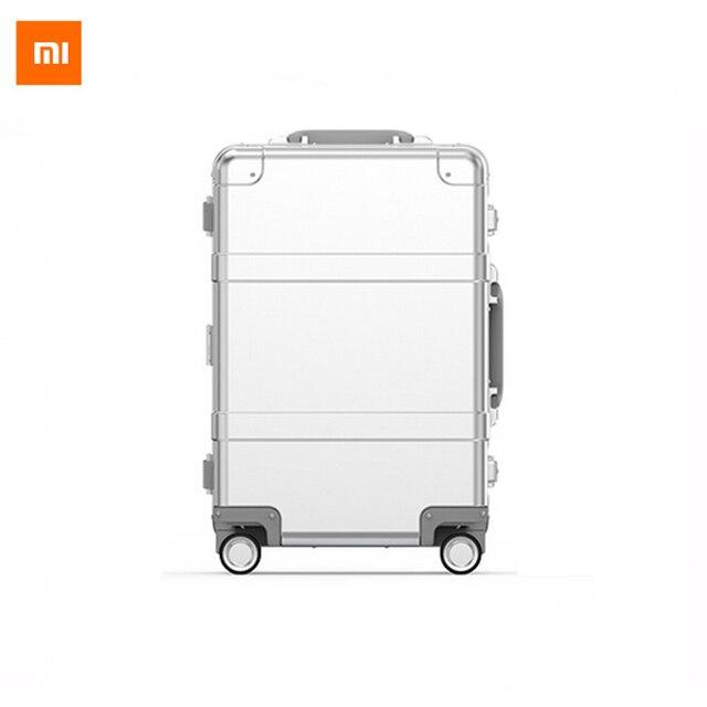 Xiaomi 90 20 pulgadas puntos inteligente bluetooth metal spinner rueda maleta del viaje del equipaje del viaje del equipaje bolsa de teléfono inteligente a distancia