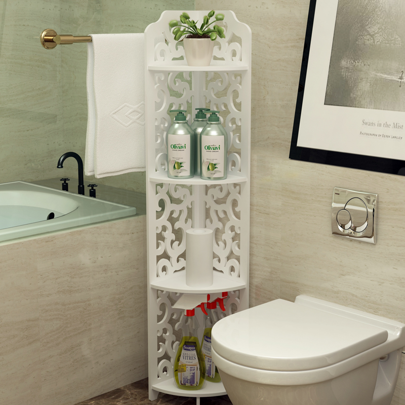 Bathroom wall corner shelf French triangle multi-layer storage rack