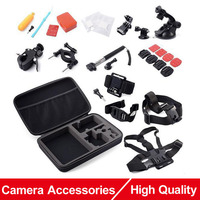 Gopro SJ4000 Accessories Set Big EVA Collection Box Monopod Headband Chest Strap Suction Cup For Go