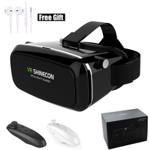 Shinecon 3D VR Headset Virtual Reality Box with Adjustable Lens & Strap for iPhone 5s 6 Samsung S7 Edge 4.7-6 inch Smartphone