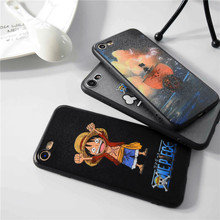 One Piece Luffy Straw Hat Pirates Hard Cover Case For iphone 5s SE 6 6s plus 7 7 Plus