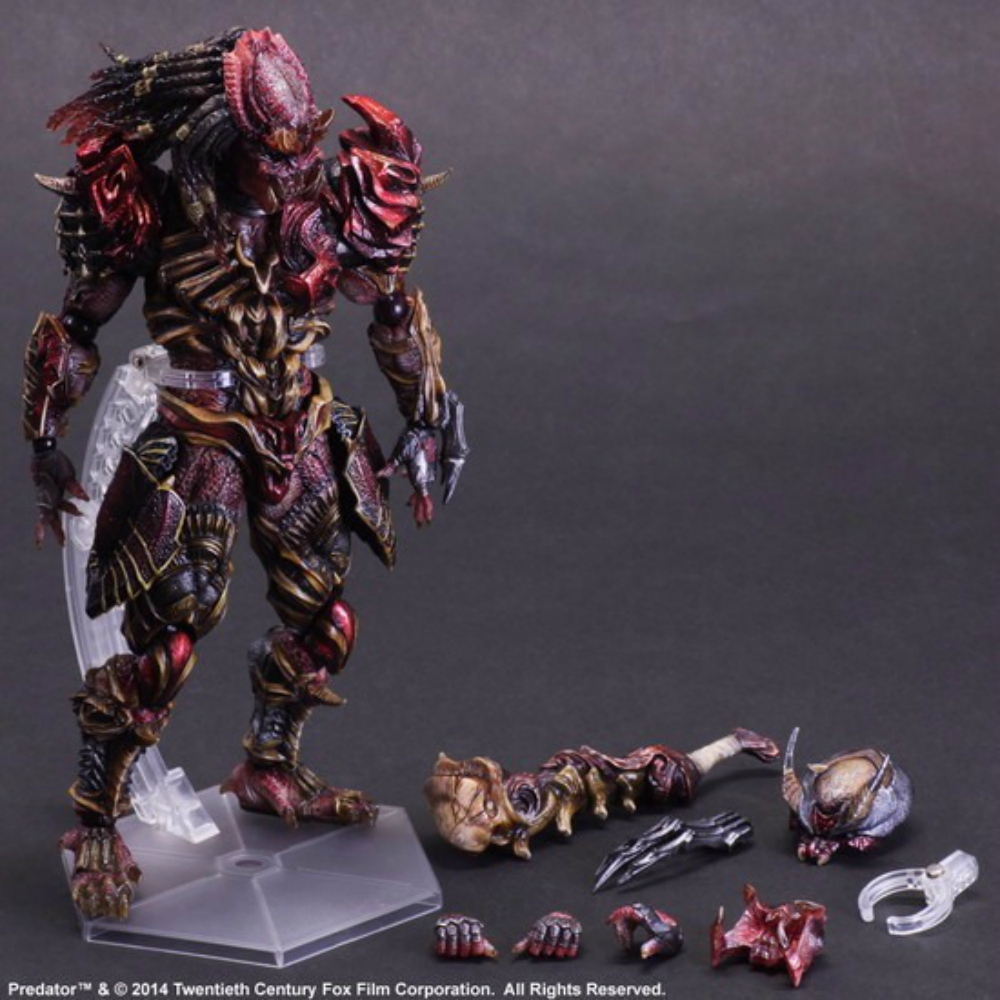 Predator Action Figure Playarts Kai Anime Toys Alien Hunter 270mm Collection Model model fans alien action figure playarts kai alien lurker model toy movie alien play arts figure playarts kai alien figures 26cm