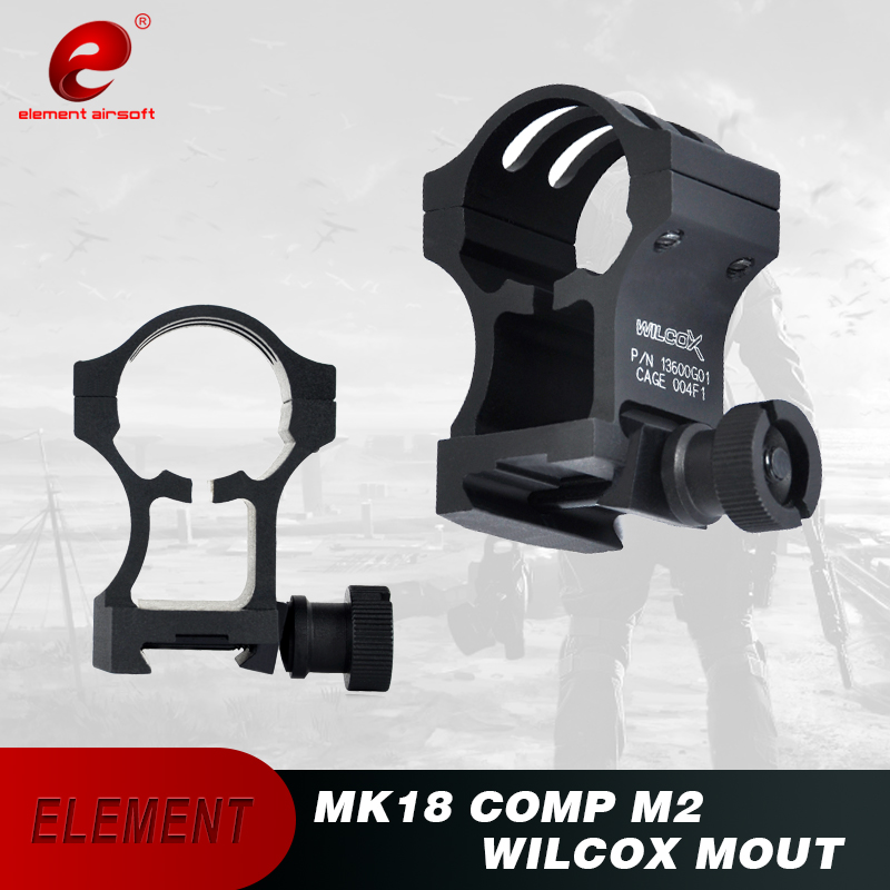 Element Tactical Flashlight MK18 comp M2 Weaver Rail Wilcox Mount For M2/M3 Picatinny AdapterTactical Mount Weaver Rail EX035(China)