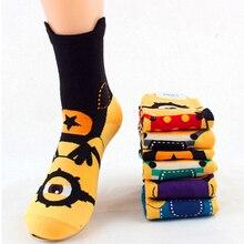 2016 Fashion Women 3D Socks,Autumn Winter Cotton Warm Sock,Cute Funny Cartoon Printed Woman Minion Socks