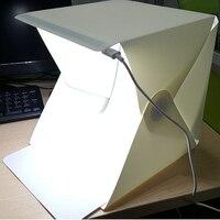 10pcs/lot Mini Folding Studio Diffuse Soft Box LED Light Black White Background Photographic Lights Photo Studio Accessories