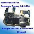 100% original europa versión para samsung galaxy s4 i9500 desbloqueado placa base placa base placa base con fulll chips de la placa lógica