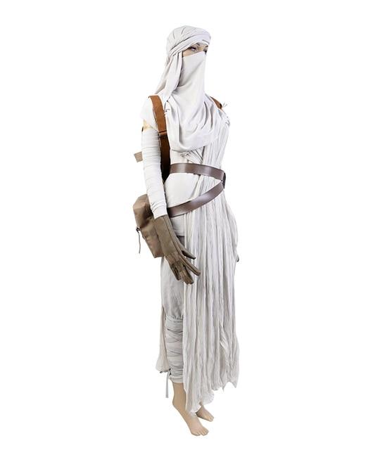 Star Wars VII The Force Awakens Costume Cosplat Full Set Uniform Rey Cosplay Costume Halloween Carnival Rey Costume Full Set 2