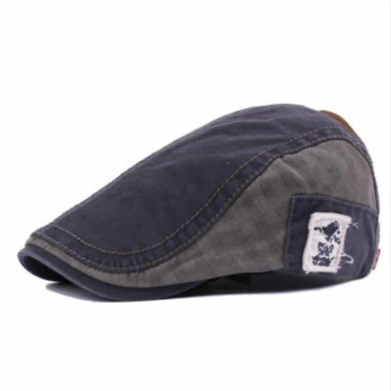 Который в душе лоскутное берет в Стиле Винтаж Женский Регулируемый хлопок Ретро плоская кепка мужская весна лето открытый Солнцезащитная шляпа французский капот