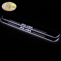 SNCN 4PCS Acrylic Moving LED Welcome Pedal Car Scuff Plate Pedal Door Sill Pathway Light For Ford Kuga Escape 2016 2017 2018