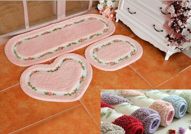Oval Shape Suede Carpet Living Dining Bedroom Area Rugs Slip Resistant Floor Mats Washable Bathroom