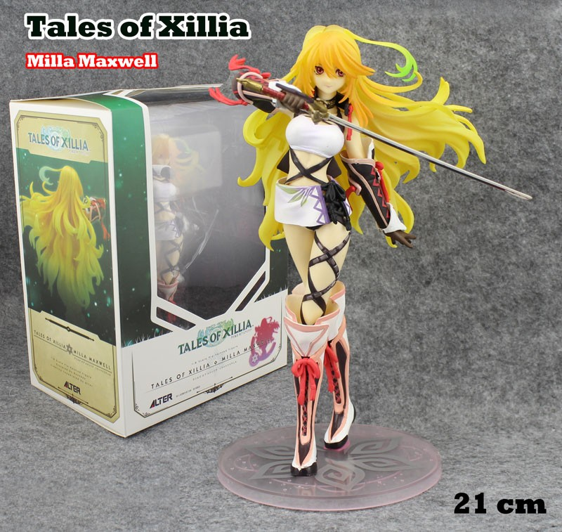 EMS Shipping 6pcs 8 Anime Tales of Xillia Milla Maxwell 1/8 Scale Boxed 21cm PVC Action Figure Collection Model Doll Toy Gift tales of xillia elise lutus teepo plushie handmade stuffed plush toy cosplay props 45cm