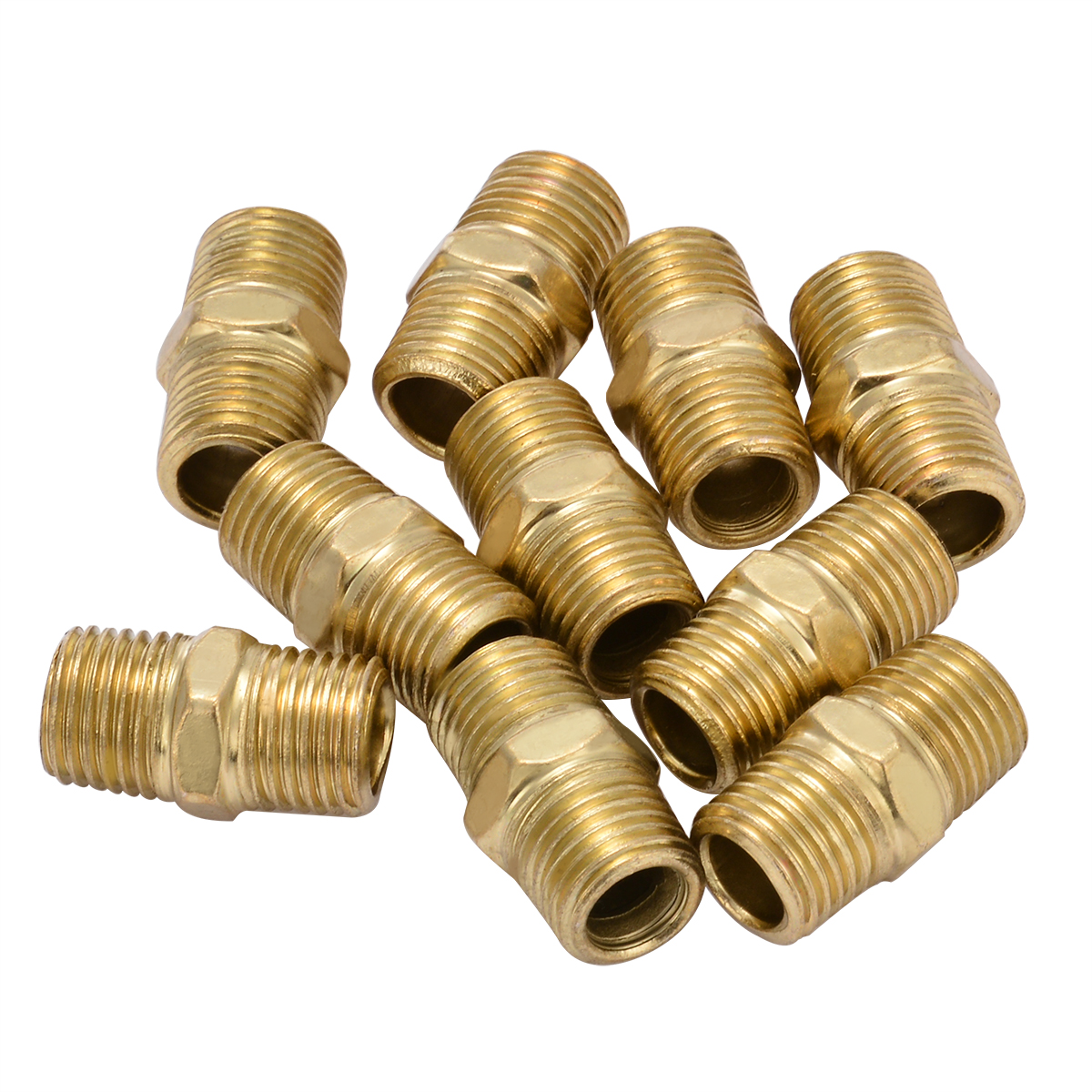 цена 10pcs 1/4 BSP Male Thread Quick Coupler Euro Air Line Hose Fitting Connector Quick Release Connectors 27x15mm