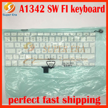 5pcs/lot A1342 SW Sweden Swedish keyboard for macbook 13.3'' A1342 SW keyboard without backlight 2009 2010year