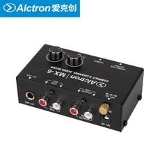 Alctron MX-6 mixer used in stage performance, studio recording