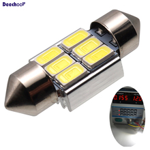 Canbus Festoon 31 / 36 / 39 / 41 / 43mm LED Car Bulb Error Free C5W 5630 SMD Light for Interior Reading Dome Lights Lamp 9pcs error free xenon white premium led full reading light kit for 2007 2011 toyota yaris installation tool with 5630 smd