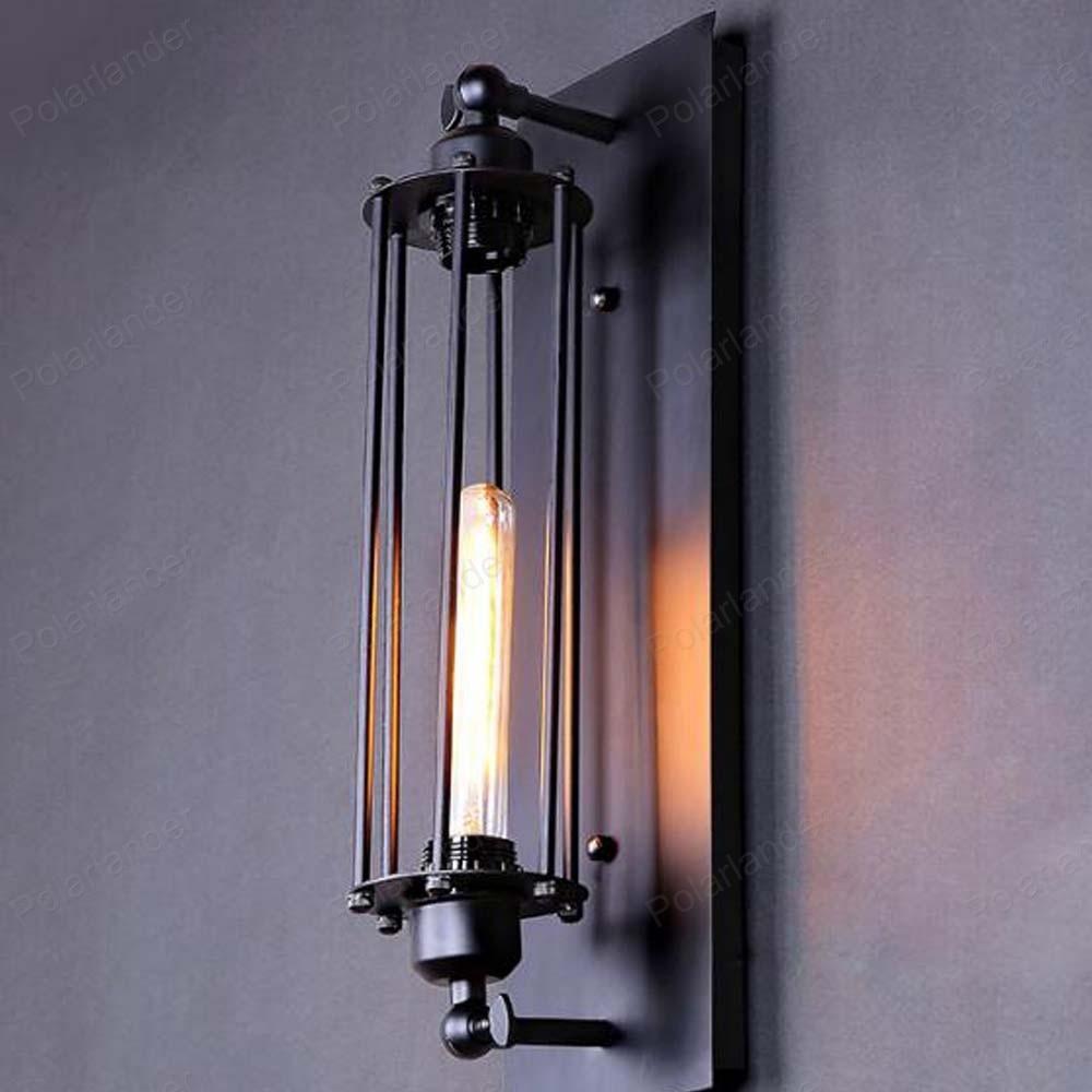 ФОТО Designer lights Nordic retro fashion modern minimalist balcony staircase light cylindrical Continental wall lamp
