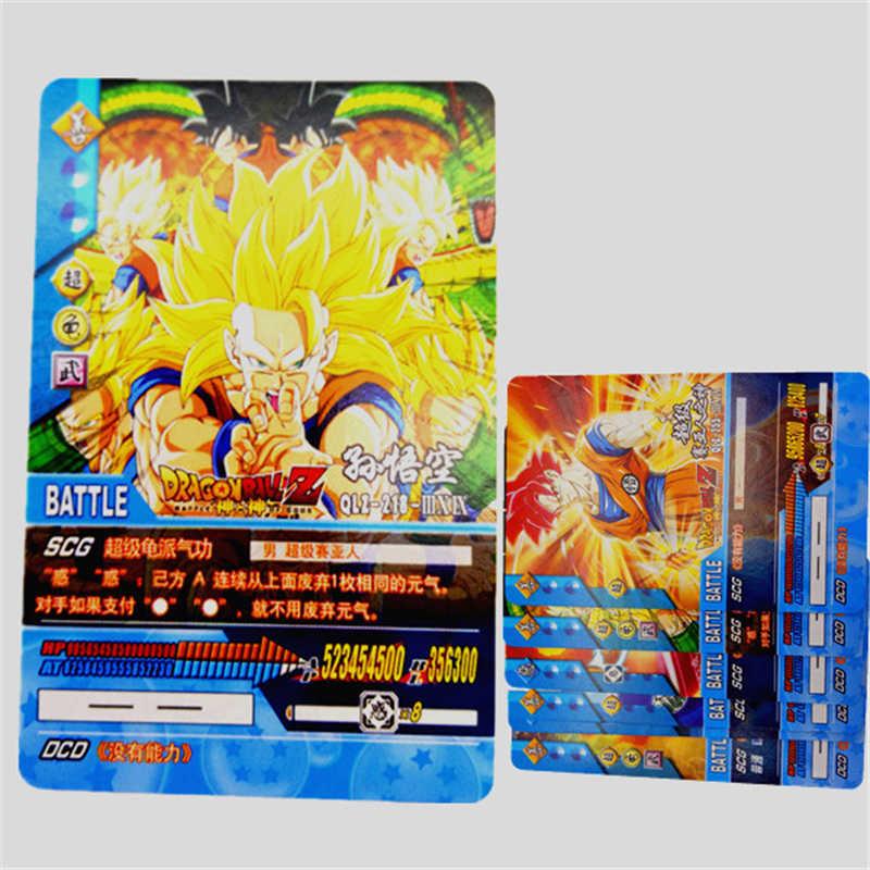 34 pçs/lote Cartões de Coleta de Dragon Ball Super Saiyan Goku Vegeta Dragon ball z caixa de música Rei Figurinhas Toy Kid Presente