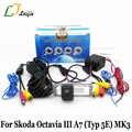 عكس كاميرا ل سكودا اوكتافيا III A7 5E MK3 2013 ~ 2017/HD واسعة عدسة زاوية/CCD ليلة الليلية وقوف السيارات الرؤية الخلفية كاميرا
