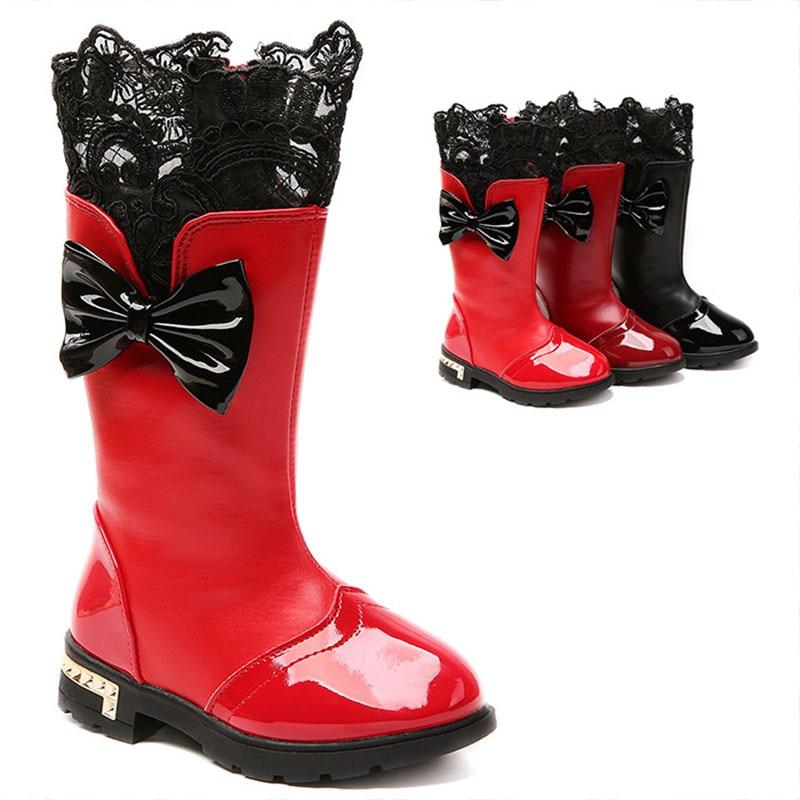 Korean Fashion Baby Kids Shoes Boots prewalker Girls Boots Mid Calf Boots gong zhu xue Big Boy plus Velvet Children Cotton Boots