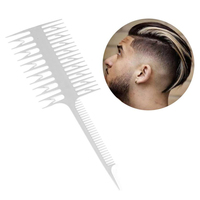 High Quality Style Beauty Salon Barber Hair Comb With Fish Tail Bone Shape Combs Dyeing Tool White Comb Wholesale Health & Beauty