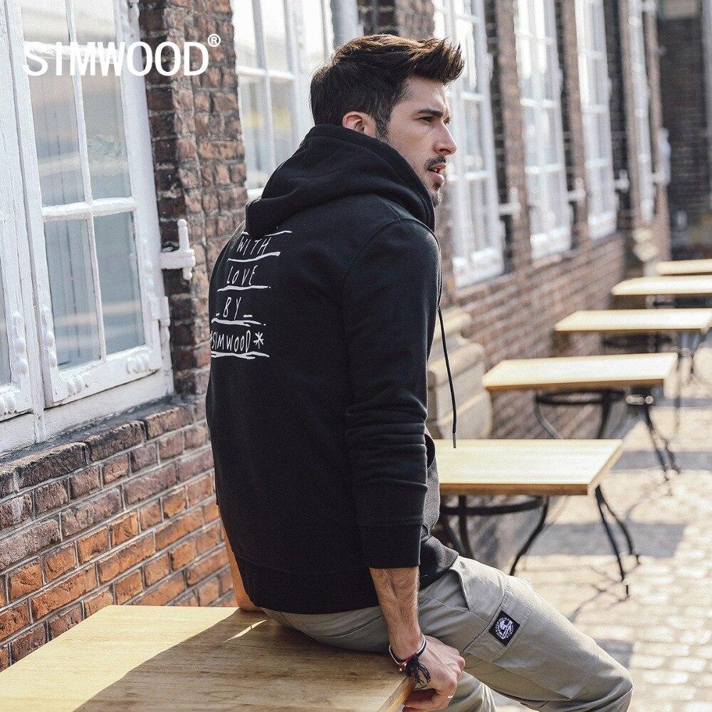 SIMWOOD Zip Up Hoodies Mannen Mode Brief Print Hooded Dikke 2019 herfst Winter Nieuwe Hoge Kwaliteit Sweatshirts Mannelijke 180435-in Hoodies en sweaters van Mannenkleding op AliExpress - 11.11_Dubbel 11Vrijgezellendag 1