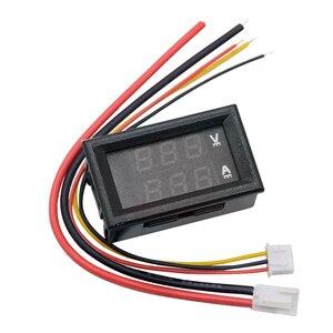 Image 2 - DC 100V 10A 50A 100A Mini 0.28inch LED Digital Voltmeter Ammeter Volt Ampere Meter Amperemeter Voltage Indicator Tester