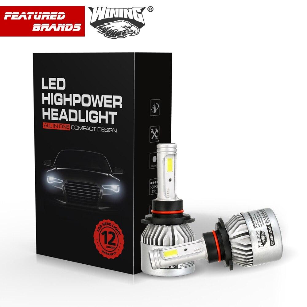 WINIG H4 Car Led Headlight High Power Auto H1 H7 9012 9005 9003 High Low 40W X2 White 6000K Bulb repalcement Bi Xenon Headlamp