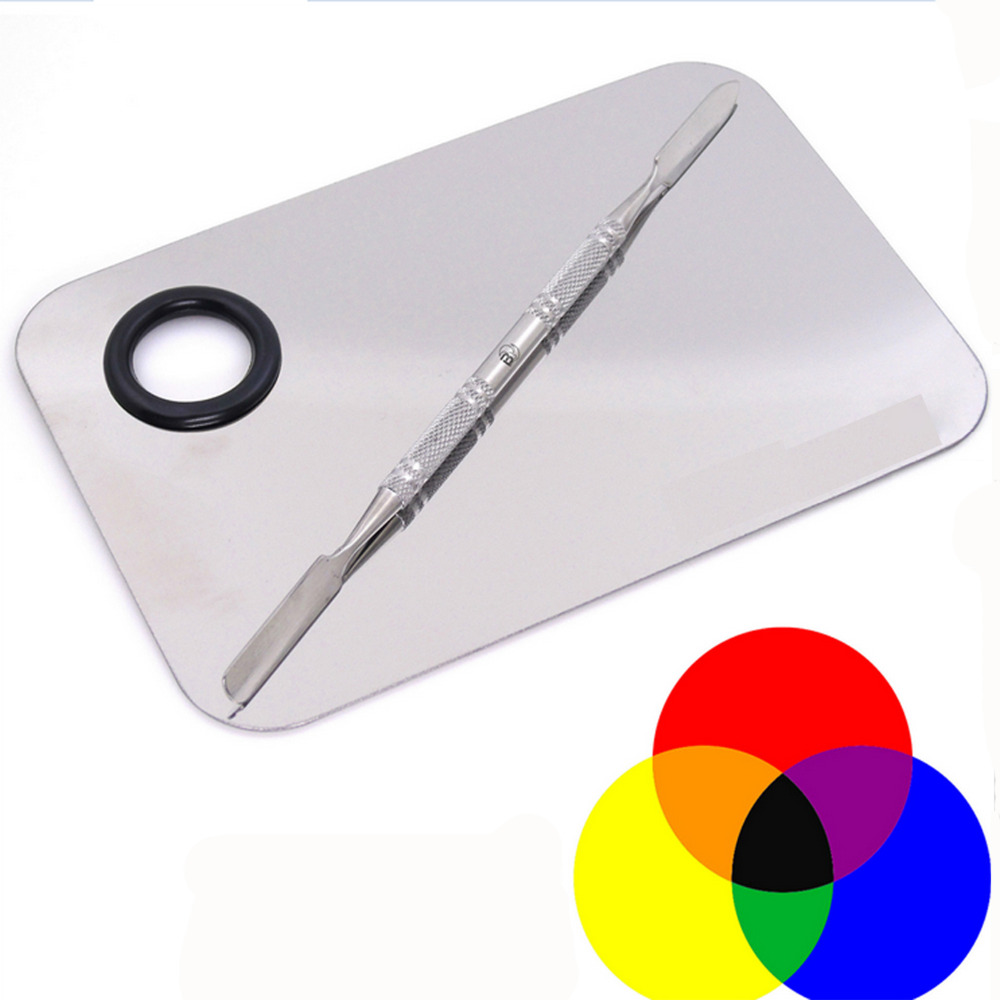 Online color mixer tool - Stainless Steel Silver Color Mixing Palette For Lipstick Shades Pigments Makeup Nails Art Makeup Tool Kits